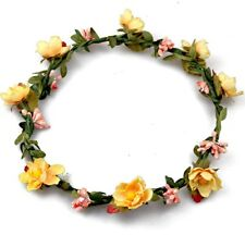 Flower Crown with Small Yellow Flowers Bachelorette Bridal Summer Flower Crown