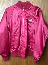 Vintage Westward-Ho Red Satin Jacket Size L & Corduroy Cap