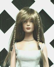 """Doll Wig, Monique """"Karley"""" Size 6/7 in Ginger Brown (New!)"""