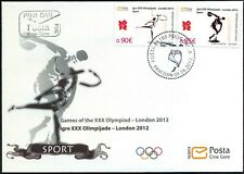 2012 FDC, Olympic Games, London England, Montenegro