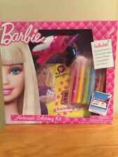 Rare Barbie Airbrush Machine Coloring Kit Stencil Sheet Coloring Book Craft Gift