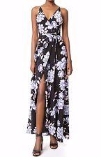 NWT $288 YUMI KIM Silk Rush Hour Maxi Dress Classic Peony Black Size M