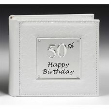 Deluxe 50th Birthday Photo Album Gifts Present Celebration Men Women Him Her