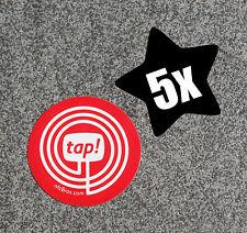 NFC día 5er set rojo omingo 203 Sticker Adhesivo etiquetas-para todos los dispositivos NFC!!!