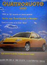 Quattroruote 453 1993 Top Car Jeep Grand Cherokee e Wrangler. Volvo 460 [Q.12]