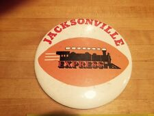 """JACKSONVILLE EXPRESS WFL 1975 LARGE 6"""" PINBACK PIN"""