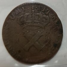 FRENCH COLONIES 9 Deniers 1721 H La Rochelle Mint ICCS F15