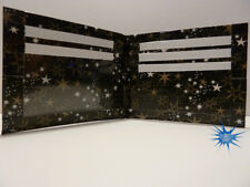 duct tape wallet Black with silver and gold stars all over it  Handmade