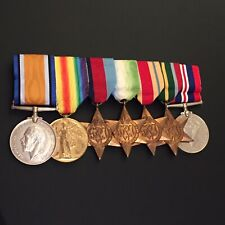 More details for ww1 2nd sportsman's rf & ww2 mn officer medal group of 7