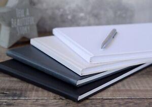 Plain DIY Guest Book. 4 colours. 50 pages / 100 sides. SLIGHT SECONDS.