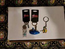 Zelda Keychain Lot Of 3 Fairy Bottle Link Ocarina