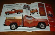 ★★1979 DODGE LI'L RED EXPRESS TRUCK ORIGINAL IMP BROCHURE 79 78 SPECS LITTLE LIL