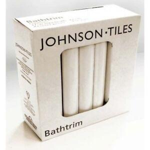 Johnsons Cristal PRG1 Ceramic Bath Seal Trim Set White Gloss Quadrant,