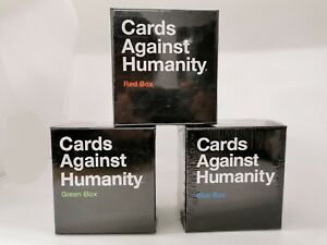 Cards Against Humanity Expansion Bundle - Blue Red Green Expansion Boxes