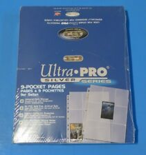 NEW ~ Ultra Pro Silver Series ~ 100 9 Pocket Pages ~ Card Size Sleeves ~1+ SHIP