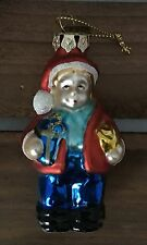 Thomas Pacconi Blown Glass Boy Caroler With Gifts Xmas Ornament 2003 Collection
