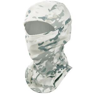 Winter Hat Windproof Balaclava Ski Full Face Mask Tactical Army Camo Hood Helmet