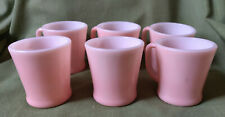 6 Pale Pink Mugs 🌿 D Handle 🥦 Fire King Oven Ware 🌿