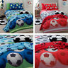 Catherine Lansfield Kids Football Duvet Cover in Blue and Red & Accessories