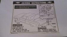 1964 Chevy Impala Convertible Jacking Instruction Decal  FREE SHIPPING* USA MADE