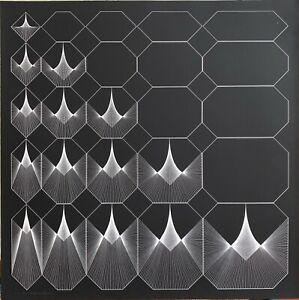 Angelo Giuseppe Bertolio serigrafia Variazione di Ottogonale 70x70 firmata 1975