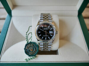 ROLEX 126200 Datejust OP 36mm Black Dial Stainless Steel 36 Jubilee Automatic