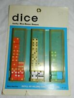Vintage Store Display for Dice, with contents, Countertop or Peg hook