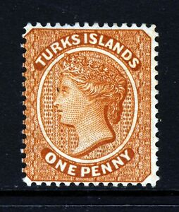 TURKS & CAICOS ISLANDS QV 1883 One Penny Orange-Brown Wmk REVERSED SG 55 MINT
