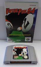 Games Gioco Game Console N64 NINTENDO 64 Play PAL EUR VIRTUAL POOL 64 - Biliardo