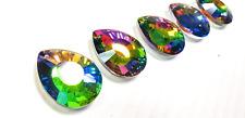 5 Vitrail Rainbow 38mm Flat Teardrops Chandelier Crystals Prism