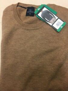 BNWT Mens Tailorbyrd 100% Merino Wool Jumper SAND  Size XL