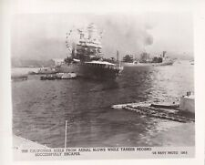 Original WWII Photo JAPANESE ATTACK PEARL HARBOR USS CALIFORNIA BATTLESHIP 5
