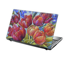 """15.6"""" TaylorHe Laptop Vinyl Skin Sticker Decal Protection Cover Red Floral N2256"""