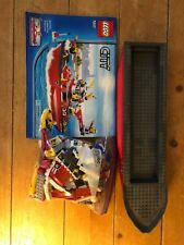 LEGO City Fire Ship 7207 boat fireman ship figures raft retired set