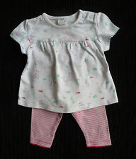 Baby clothes GIRL newborn 0-1m F&Foutfit dress-style top/pink/white leggings