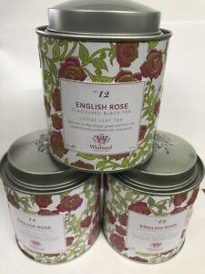3 x 100g Whittard English Rose Tea Loose Leaf Tea Brand New Sealed