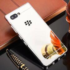 For Blackberry Key 2 Shockproof Aluminum Metal Frame Bumper Case PC Mirror Cover
