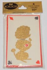 Vtg 1960 Gold Poodle Norcross MIP Bridge Tally Cards FREE SHIP USA