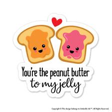 Peanut Jelly Toast Love Love Sticker Valentines Heart Decal Car