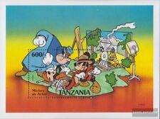 tanzanie Bloc 142 (complète edition) neuf avec gomme originale 1991 Micky Maus q