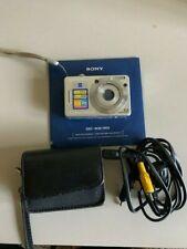 Sony Cyber-shot DSC-W55 7.2MP Digital Camera - Silver- Excellent Condition