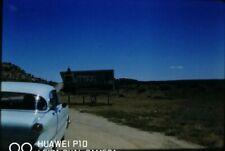 35mm Slide 1961 Arizona State Sign 1950s Classic Car Street View Desert USA
