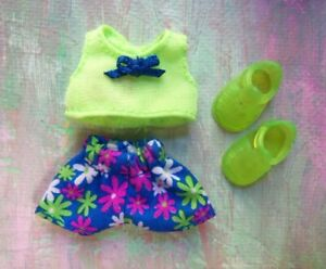 Mattel Kelly Small Doll Clothes *FITS HF Toddler/Krissy/Kelly Short Set & Shoes*