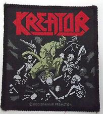 KREATOR Pleasure To Kill Original Vintage 1990 Woven Sew On Patch