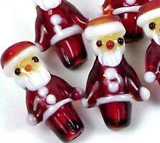 Lampwork Glass Christmas Santa Beads 23x14mm (5)