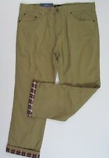 Flannel Lined Twill Casual Pants Size 40x30 Nwt Mens Croft & Barrow