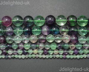 Natural Rainbow Fluorite Gemstone Round Beads 4mm 6mm 8mm 10mm 12mm 14mm 15.5''