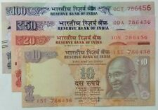 786 WITH FANCY NUMBER.***786456*** 10,20,50,100 RUPEES  4 U.N.C NOTES