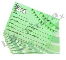 Baby Shower Prediction Advice Cards - 20 Pack- Unisex Boy Girl - Keepsake Game