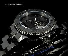 New Invicta 38MM Women's Disney Grand Diver AUTOMATIC All Black Bracelet Watch